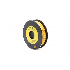 EC-O Type Yellow Tubes Concave Conversed Shaped Cable Markers (No.1)