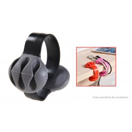 Silicone Desktop Clip-on Cable Holder Wire Management Organizer Winder