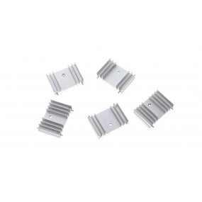 25*36*11mm Aluminum Heatsink (5-Pack)