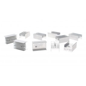 25*15*11mm Aluminum Heatsink (10-Pack)