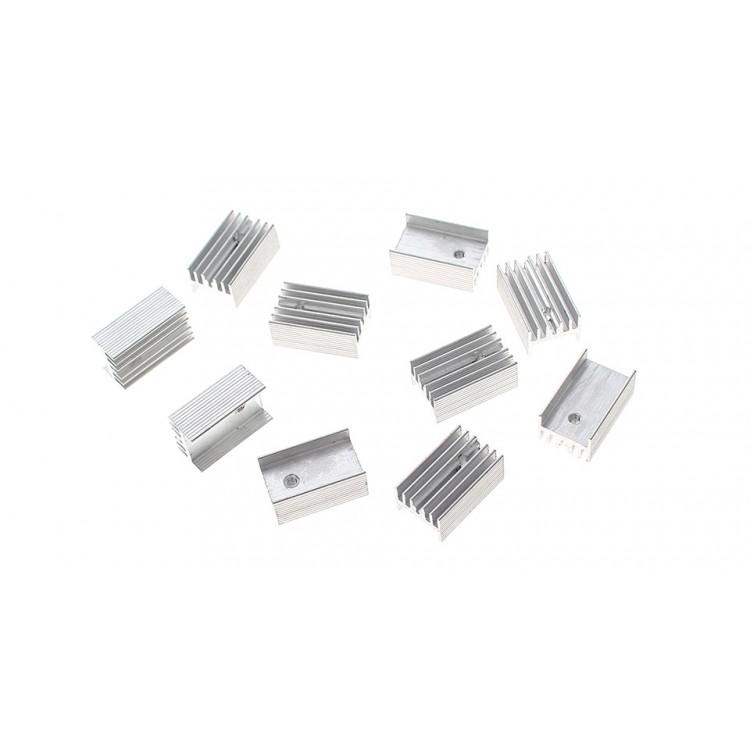 Pack of 2 HEATSINK AL6063 300X35X25MM