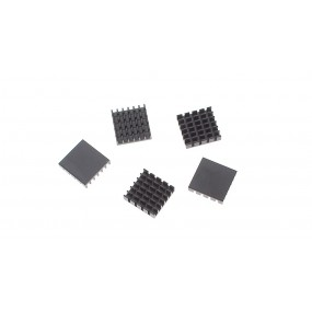 19*19*5mm Aluminum Heatsink (5-Pack)