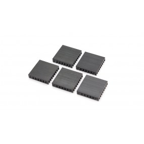 28*28*6mm Aluminum Heatsink (5-Pack)