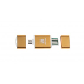 8GB microSDHC Memory Card w/ Card Adapter and 2-in-1 Card Reader