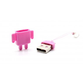 Android Robot microSDHC USB 2.0 Card Reader (Pink)